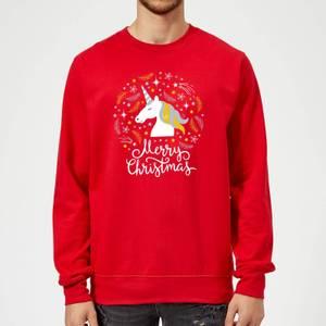 Unicorn Christmas Red Sweatshirt
