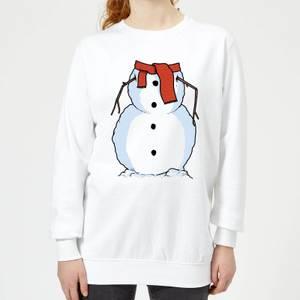 Snowman Frauen Sweatshirt - Weiß