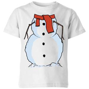 Snowman Kids' T-Shirt - White