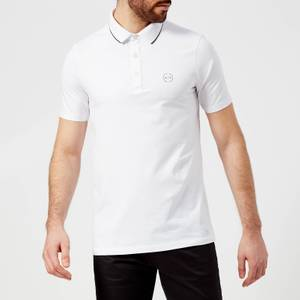 Armani Exchange Men's Tipped Polo Shirt - White