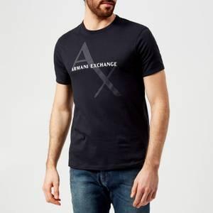 Armani Exchange Men's Large Ax Logo T-Shirt - Navy