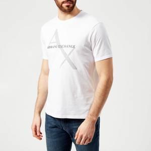 Armani Exchange Men's Large Ax Logo T-Shirt - White