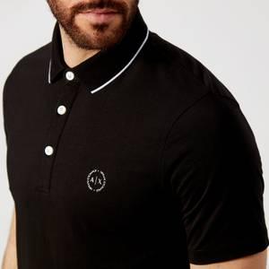 Armani Exchange Men's Tipped Polo Shirt - Black