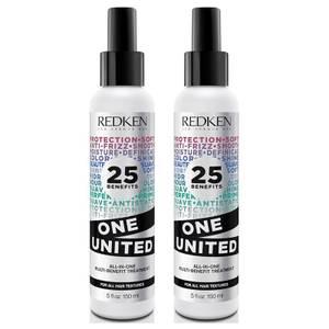 Duo de Tratamento Multibenéfico One United da Redken (2 x 150 ml)