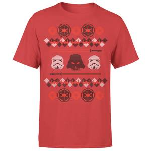 Star Wars Christmas Imperial Knit Red T-Shirt