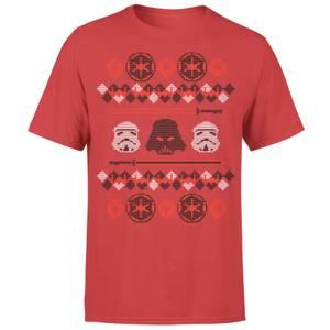 Star Wars Weihnachten Imperial T-Shirt - Rot