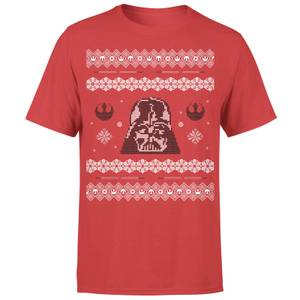 Star Wars Weihnachten Darth Vader T-Shirt - Rot