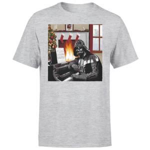Star Wars Weihnachten Darth Vader Piano Player T-Shirt - Grau