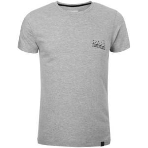 Dissident Men's Hanzo Back Print T-Shirt - Light Grey Marl