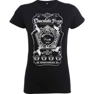 Harry Potter Honeydukes Mono Chocolate Frogs Women's Black T-Shirt
