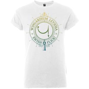 T-Shirt Homme Wingardium Leviosa Swish And Flick - Harry Potter - Blanc