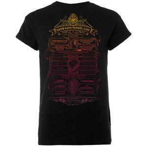 T-Shirt Homme Liste de Fournitures Poudlard - Harry Potter - Noir