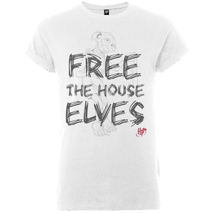 T-Shirt Femme Free The House Elves - Harry Potter - Blanc
