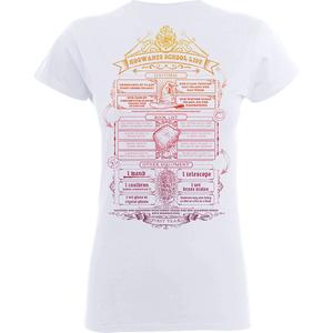T-Shirt Femme Liste de Fournitures Poudlard - Harry Potter - Blanc