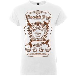 Harry Potter Honeydukes Sepia Chocolate Frogs Women's White T-Shirt