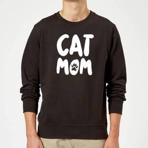 Cat Mom Sweatshirt - Black