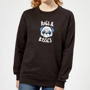 Pugs & Kisses Women's Sweatshirt - Black