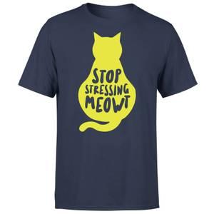 Stop Stressing Meowt T-Shirt – Marineblau