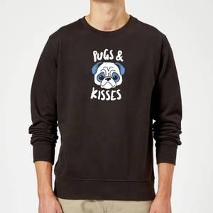 Pugs & Kisses Sweatshirt - Black