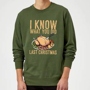 I Know What You Did Last Christmas Sweatshirt - Forest Green