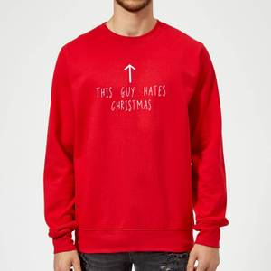 This Guy Hates Christmas Sweatshirt - Red