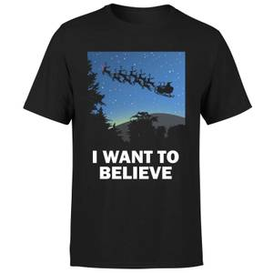 I Want To Believe T-Shirt - Black