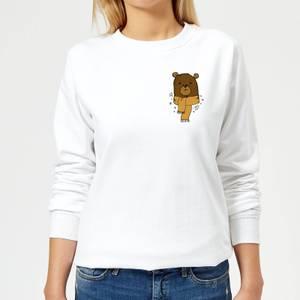 Christmas Bear Pocket Frauen Sweatshirt - Weiß