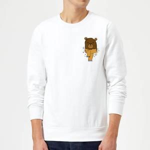 Christmas Bear Pocket Sweatshirt - Weiß