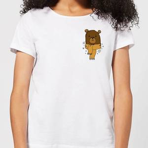 Christmas Bear Pocket Women's T-Shirt - White