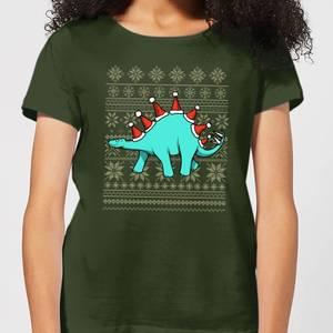 Stegosantahats Women's T-Shirt - Forest Green
