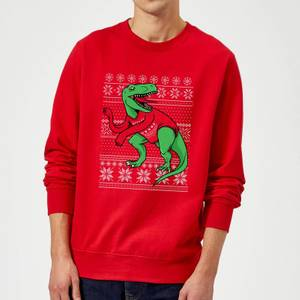 T-Rex Sleeves Sweatshirt - Red