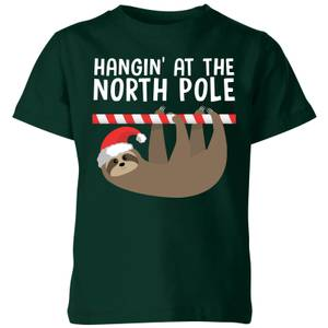 Hangin' At The North Pole Kids' T-Shirt - Forest Green