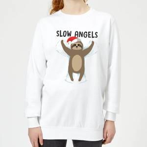 Slow Angels Women's Sweatshirt - White
