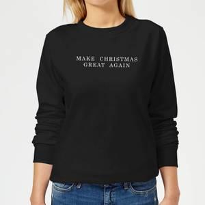 Make Christmas Great Again Women's Sweatshirt - Black