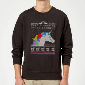 Have a magical Christmas Fair isle Sweatshirt - Black