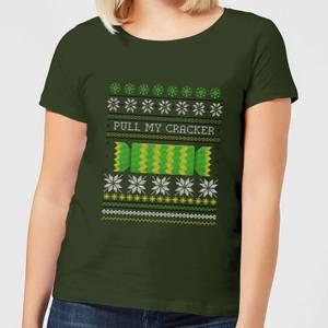 Pull My Cracker Women's T-Shirt - Forest Green