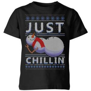 Just Chillin Kids' T-Shirt - Black