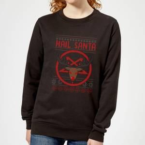 Hail Santa Women's Sweatshirt - Black