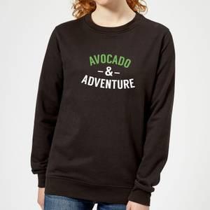Avocado and Adventure Women's Sweatshirt - Black