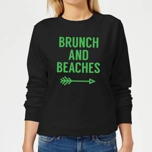 Brunch and Beaches Women's Sweatshirt - Black