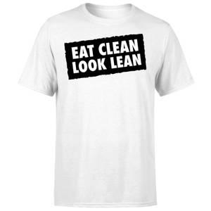 Eat Clean Look Lean T-Shirt - White