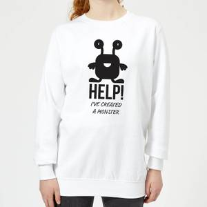 HELP Ive Created a Monster Women's Sweatshirt - White