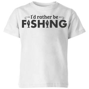 Id Rather be Fishing Kids' T-Shirt - White