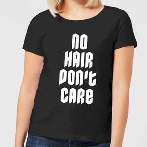 No Hair Dont Care Women's T-Shirt - Black