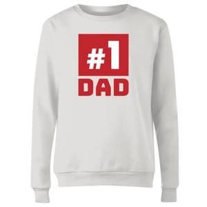 Number 1 Dad Women's Sweatshirt - White