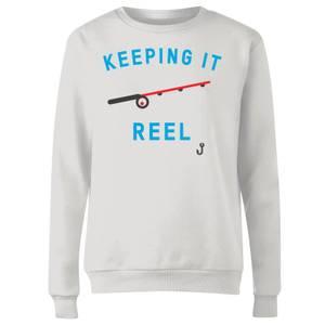 Keeping it Reel Women's Sweatshirt - White