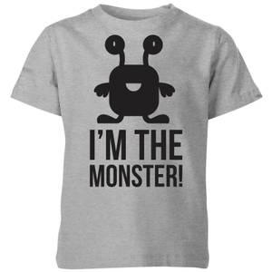 My Little Rascal I'm the Monster Kids' T-Shirt - Grey