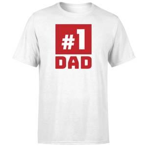 Number 1 Dad T-Shirt - White