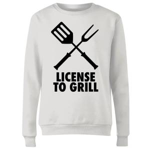 License to Grill Women's Sweatshirt - White