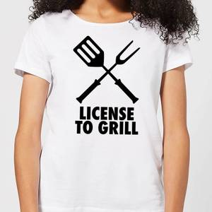 License to Grill Women's T-Shirt - White